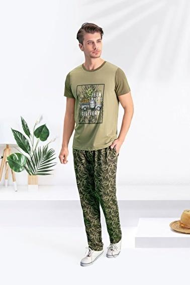 Arnetta Arnetta Bambu Duman Erkek Pijama Takımı Yeşil